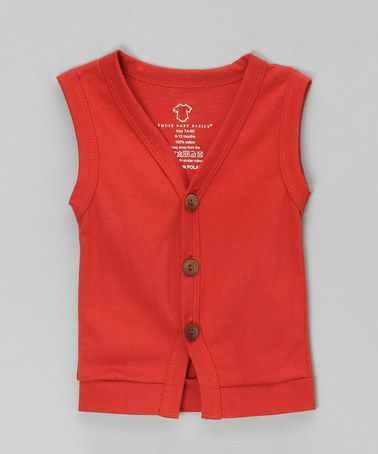 Take a look at this Red Button-Up Sweater Vest by Those Baby ...