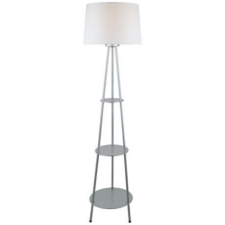 Lite Source Dastan Silver 3 Tier Shelf Floor Lamp Floor Lamp With Shelves Silver Floor Lamp Lamp