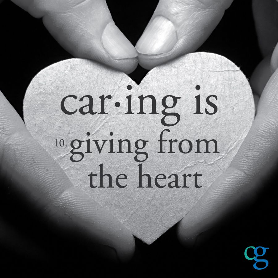 Caregiving, as defined by caregivers Caregiver quotes
