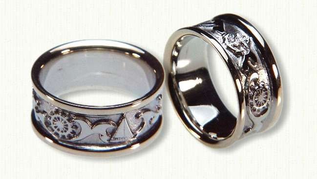 Nautical Wedding Rings Celtic Engagement Affordable Unique Gold Ring
