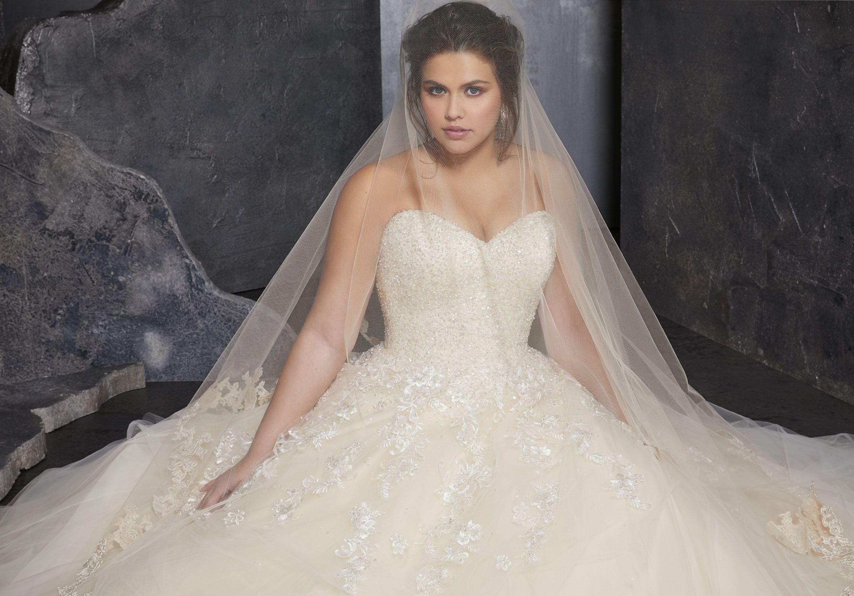 Kasmira plus size wedding dress morilee plus size