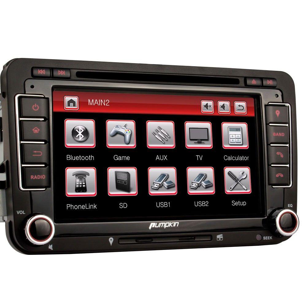 Pumpkin in dash 7 inch hd touchscreen car stereo 2 double din dvd player gps