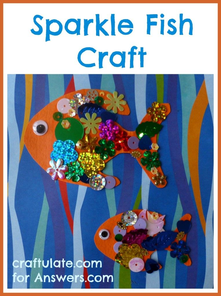 Sparkle fish craft an easy project for kids of all ages for Fun crafts for all ages