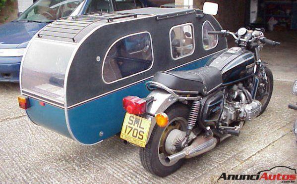 et pourquoi pas prendre sa mini caravane avec la motorade moto pinterest. Black Bedroom Furniture Sets. Home Design Ideas