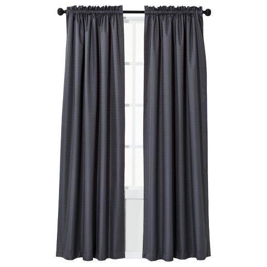 braxton thermaback linen curtains Design Client Claritza Apt - cortinas azules