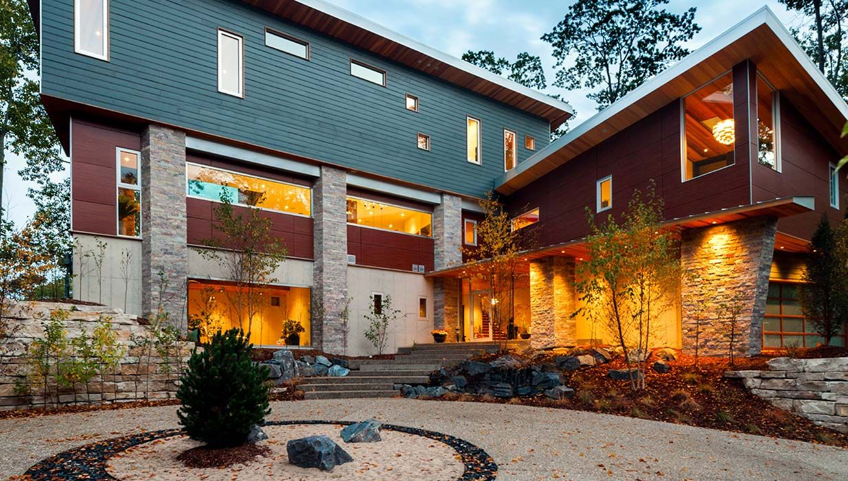 Modern In Michigan Modern Architect Concrete Wall