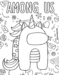 39+ Among us unicorn coloring pages printable free download