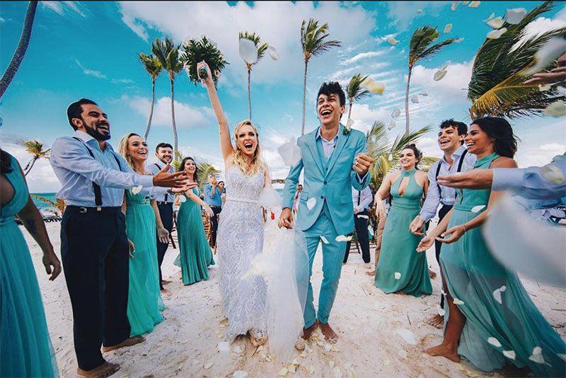 Veja os detalhes no vestido de noiva de Tata Estaniecki