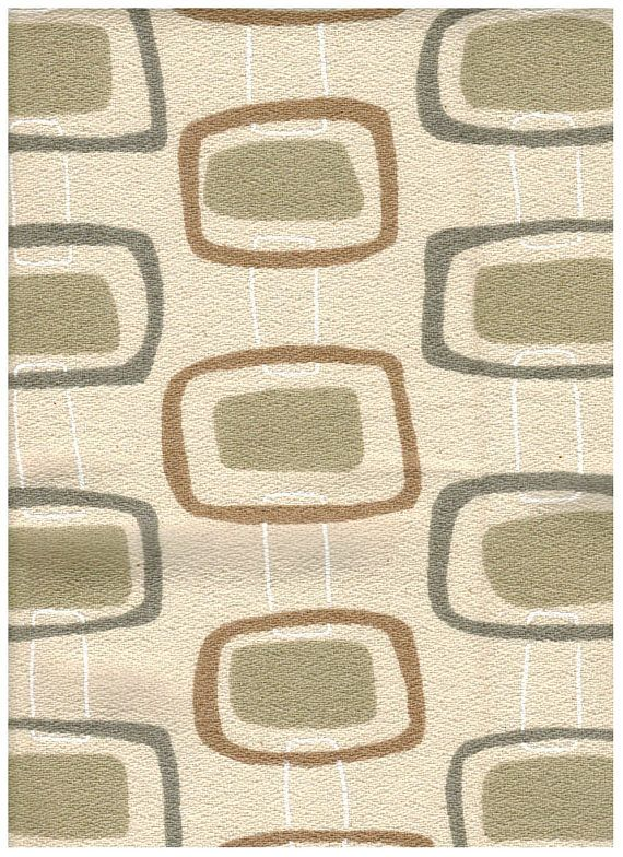34 X 54 Chris Stone Home Decorator Fabric Mid Century Modern Textile