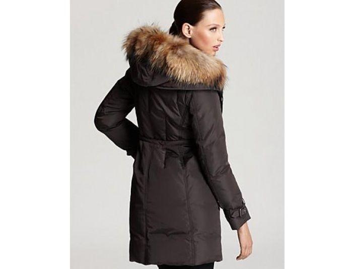 Pelz Lange Phalangère getrimmt Moncler jacken mantel Daunen J13lcuFKT