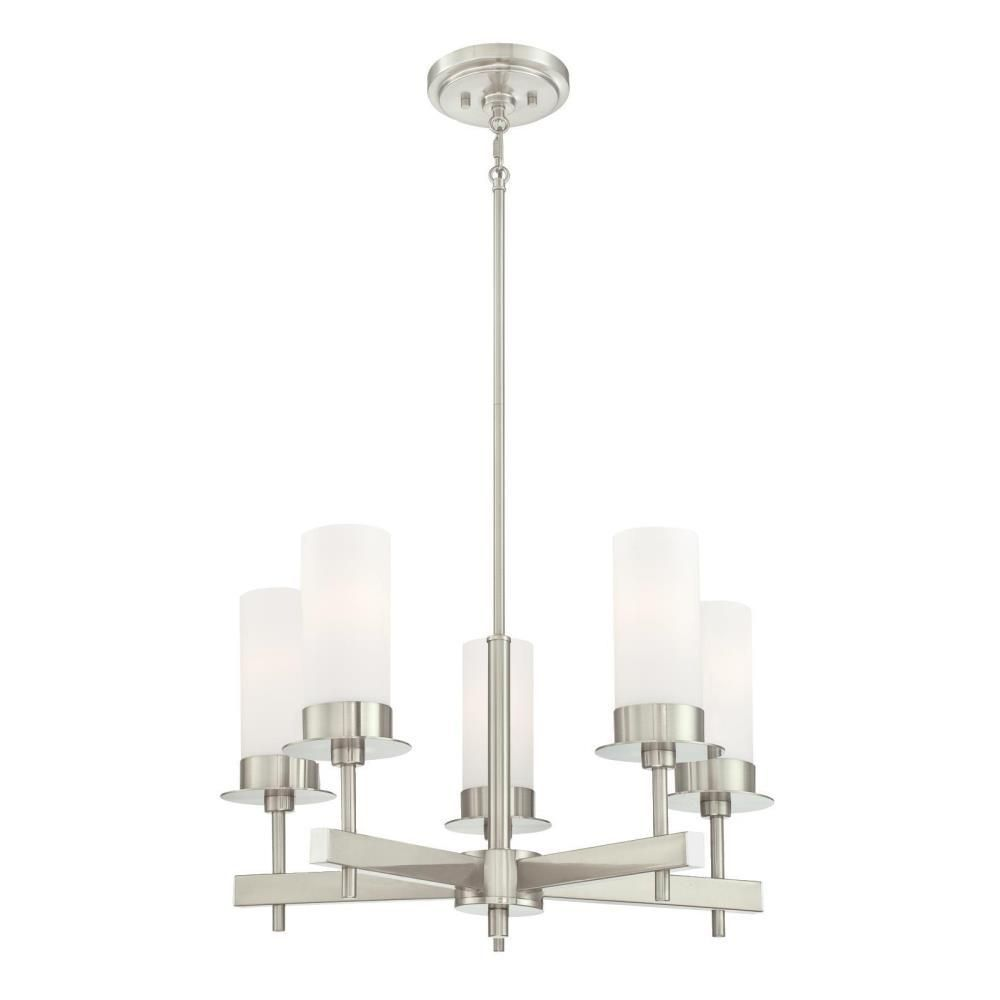 Westinghouse Roswell 5 Light Brushed Nickel Chandelier With