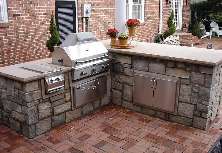 Outdoor Kitchen Island Components L-Shaped Outdoor | Outdoor ...
