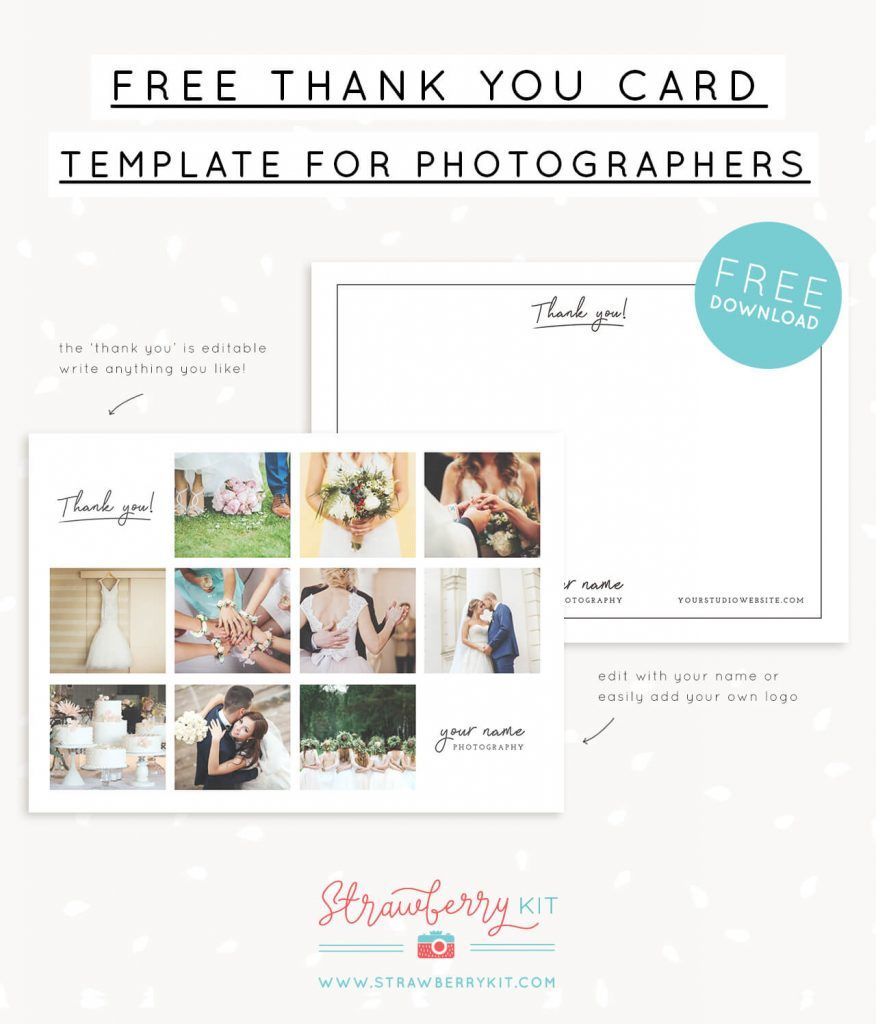 Free Thank You Note Card Template With Collage For Photographers Note Card Template Thank You Card Template Free Thank You Cards