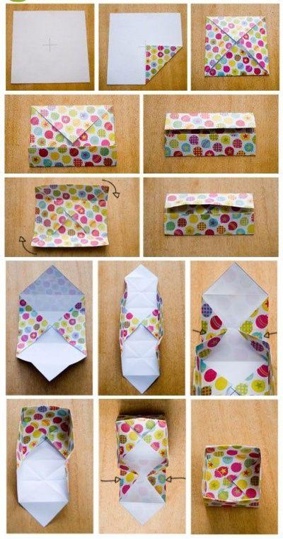 diy des petites bo tes de rangement en origami le blog. Black Bedroom Furniture Sets. Home Design Ideas