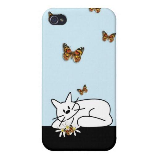 Doodle Cat Case For Phones