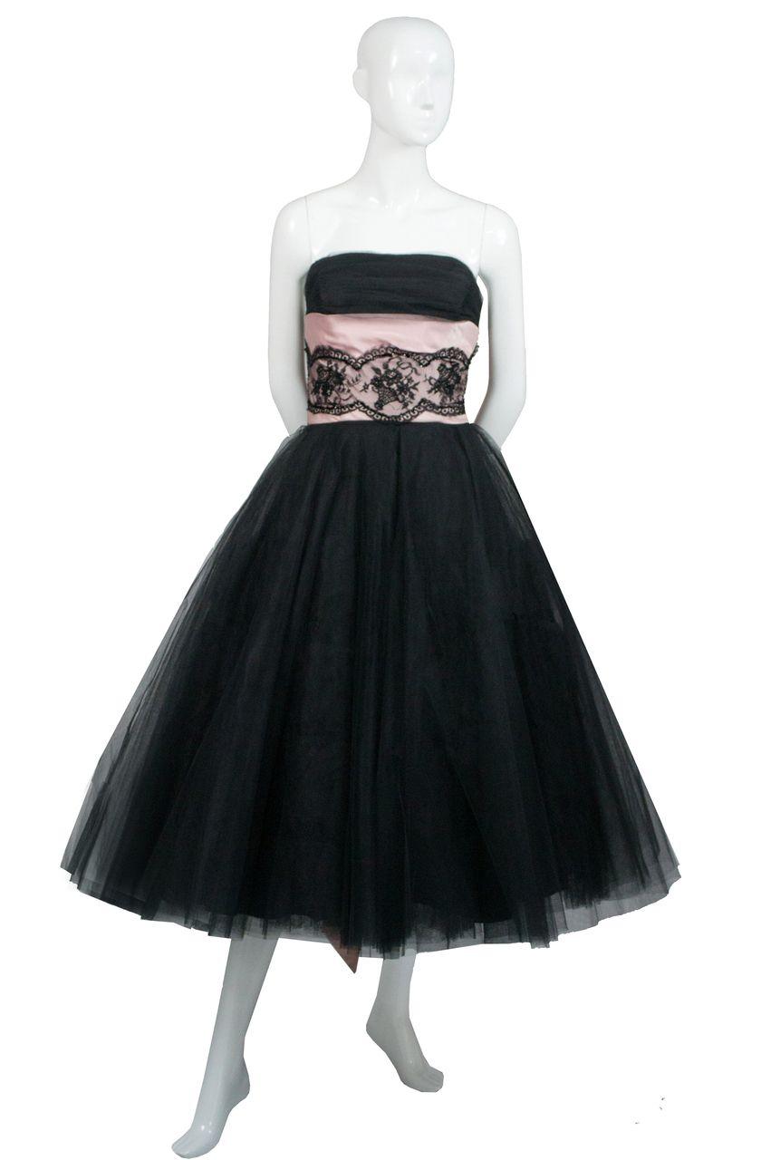 Dressing Vintage - Mollie Stone Minuet designer dreamy tulle 1950s vintage dress, $425.00 (http://dressingvintage.com/mollie-stone-minuet-designer-dreamy-tulle-1950s-vintage-dress/)