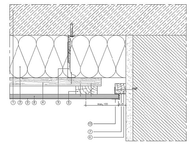 schattenfuge mit sichtbarem anschlussholz holzbau detail