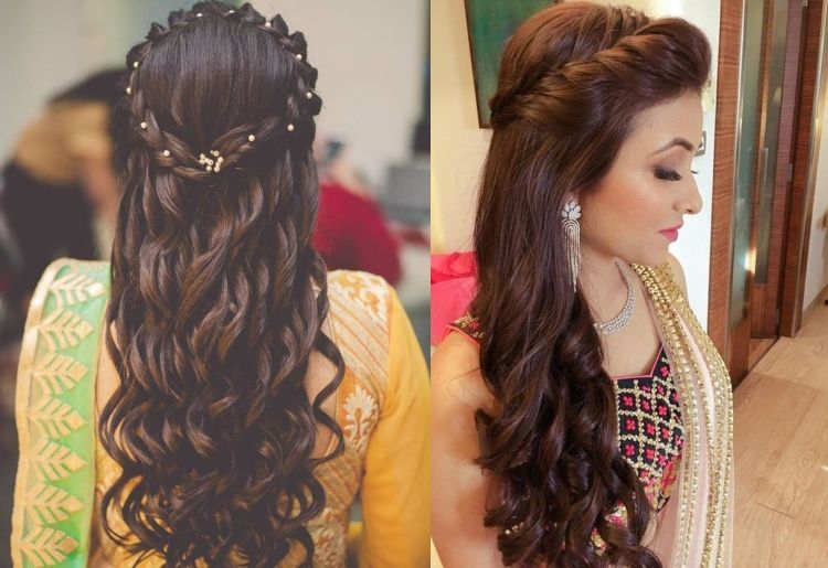 Curly Hair Hairstyles For Saree Curly Hair Hairstyles Saree 2020 Saree