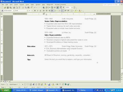 Basic Resume Creation - YouTube RESUME WRITING, TEMPLATES - resume creation