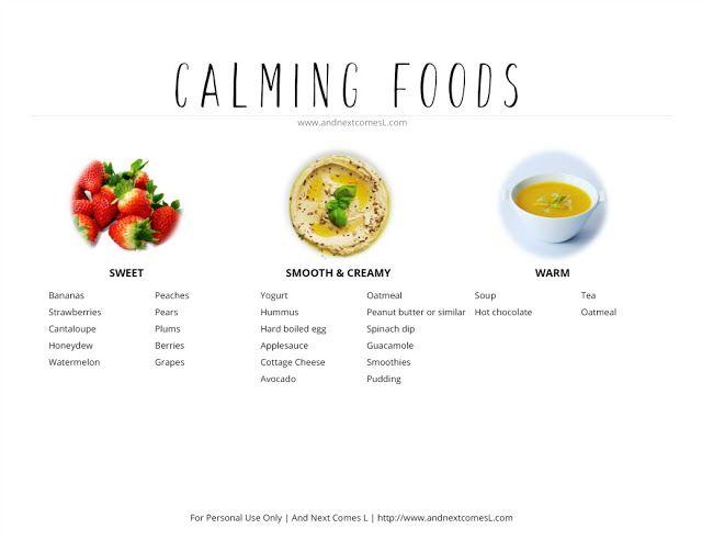 Alerting & Calming Sensory Snacks for Kids {Free Printable