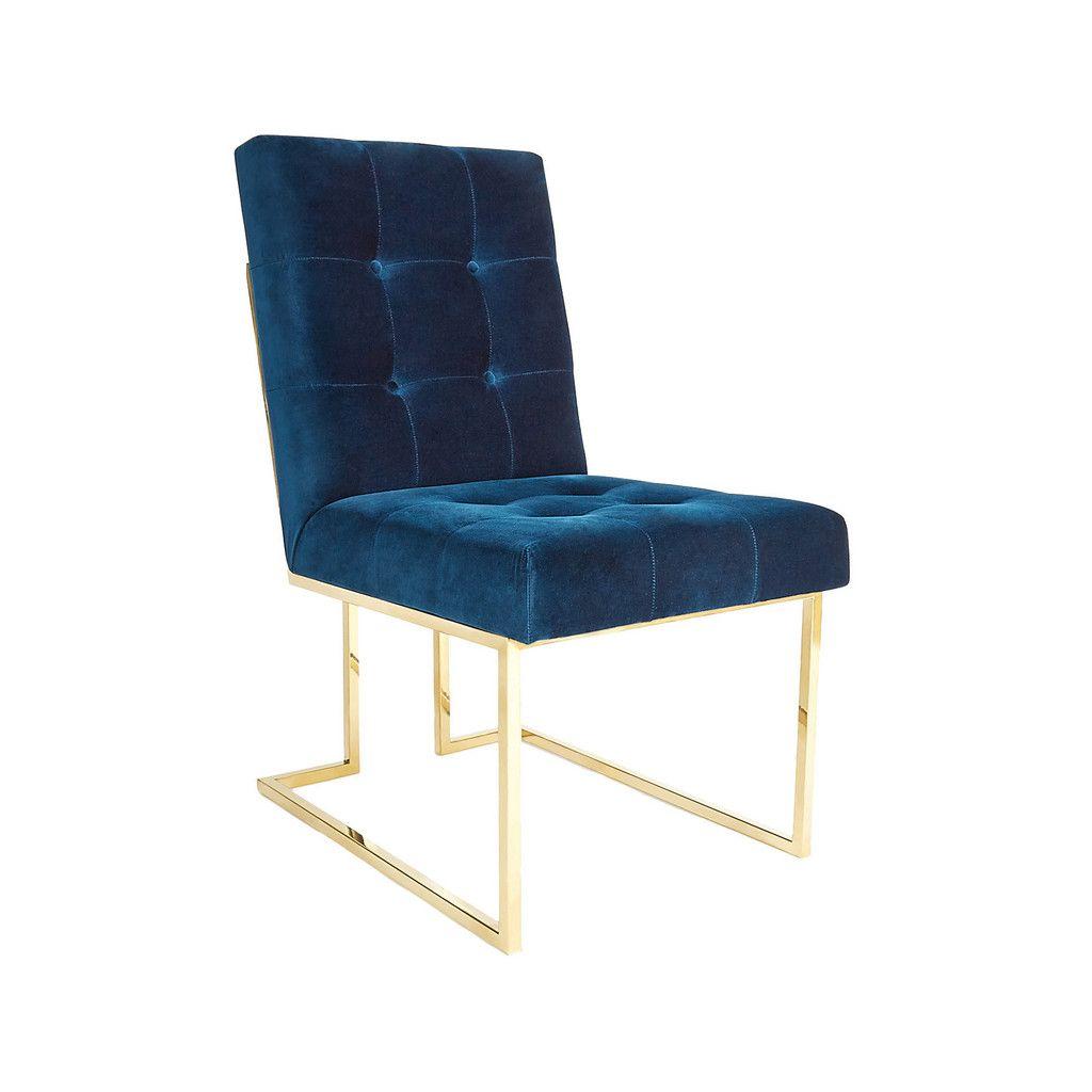 Navy Velvet Dining Chair | Positiv und Tipps