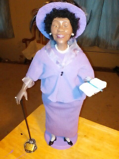 Dorothy Height doll I made & now shes off to the Smithsonian.