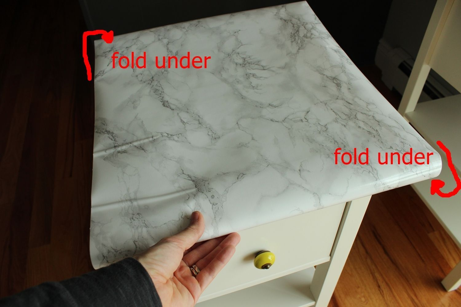Diy Nightstand Upgrade With Marble Contact Paper Diy Nightstand Diy Nightstand Makeover Contact Paper