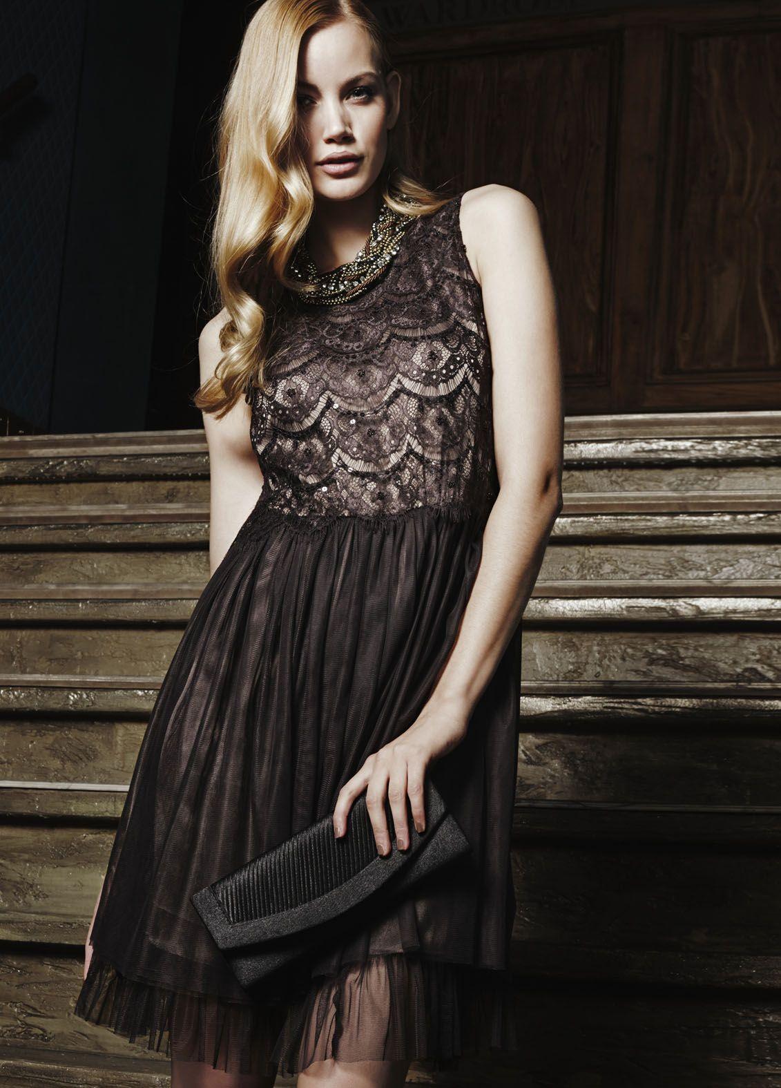 Kerst jurk zwart kant