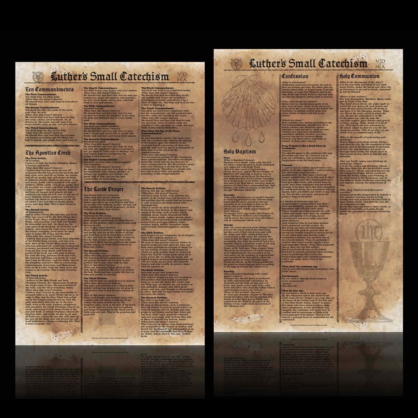 Luther S Small Catechism Posters