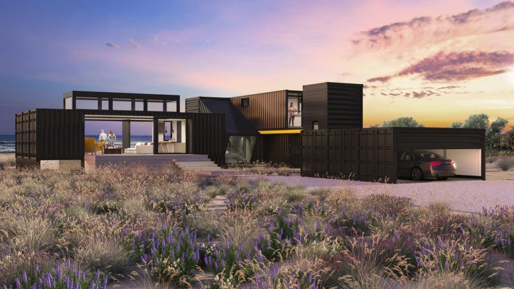 How Shipping Containers Will Become A Gorgeous Forever Home In Malibu Sunset Magazine In 2021 Malibu Homes Real Estate Houses Architecture