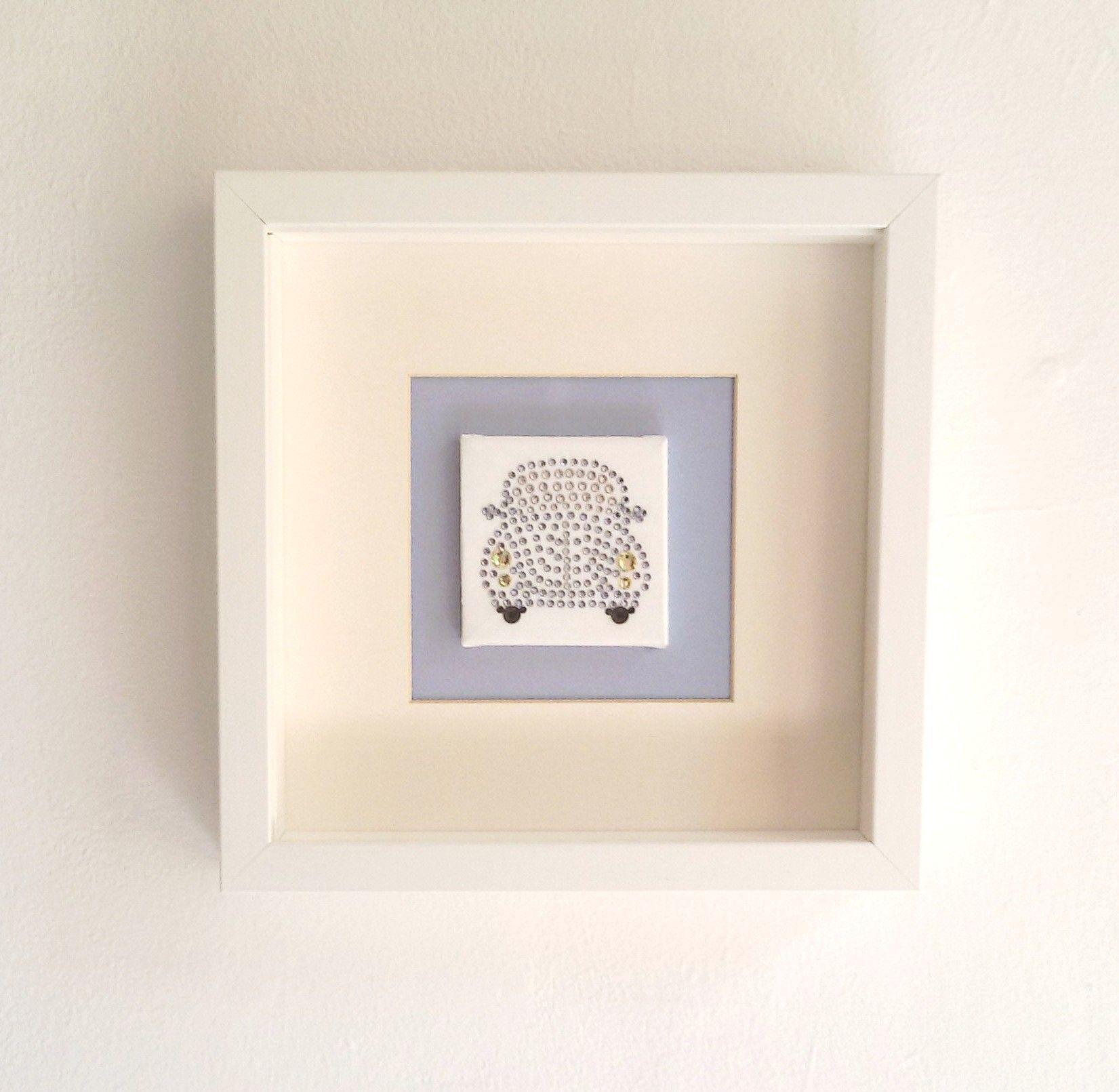 Kleine handgefertigte Dekoelemente für das Babyzimmer mit Swarovski Elements verziert Viele verschiedene Motive Als