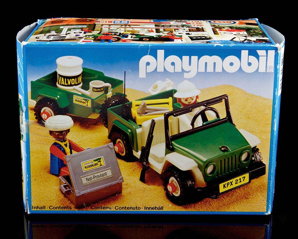 Vintage Playmobil System 3532 African Safari Green Jeep 1981 Safari Green Green Jeep African Safari