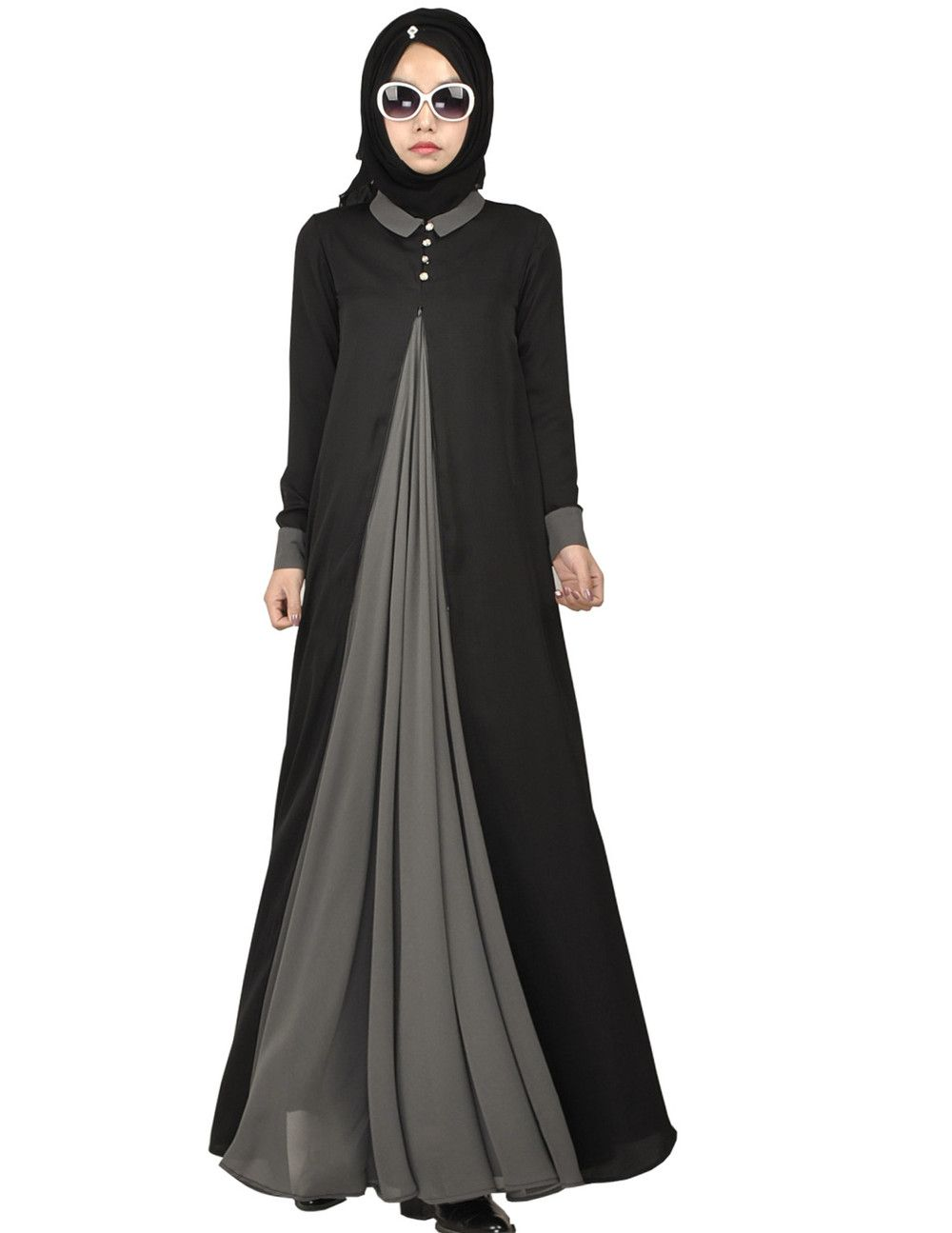 2016 New Arrival Islamic Muslim Long Dress For Women Malaysia Abayas In Dubai Turkish Ladies
