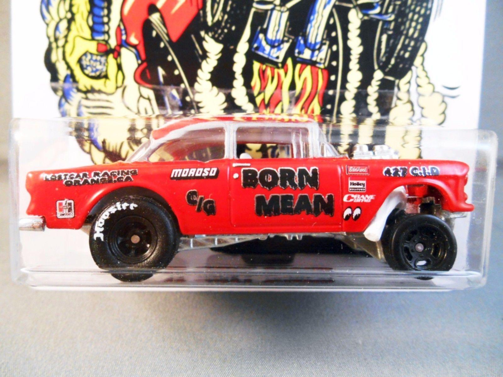 Hot Wheels Custom Born Mean 55 Chevy Gasser Hot Wheels Garage