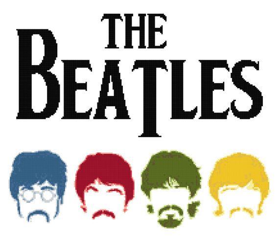 Cross Stitch Pattern, The Beatles Logo, Music Cross Stitch ...