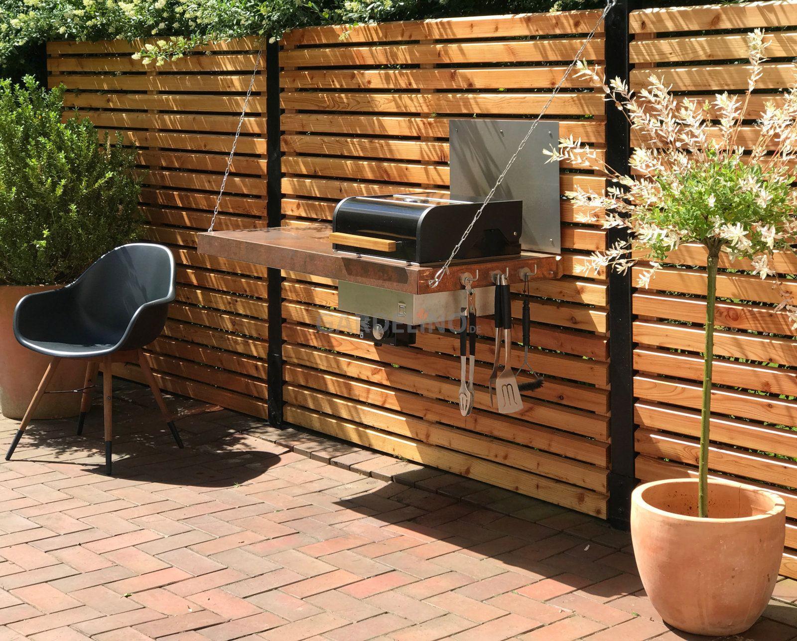 Outdoor Küche Gas : Invidiuelle outdoor küche mit oneq gas grill aus holz zum aufängen