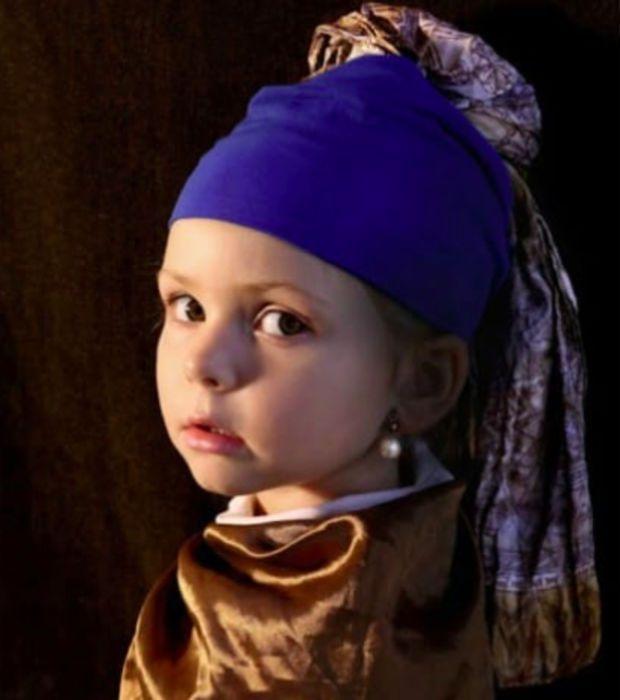 Photo : Le tableau de Rembrandt version réaliste avec une petite fille