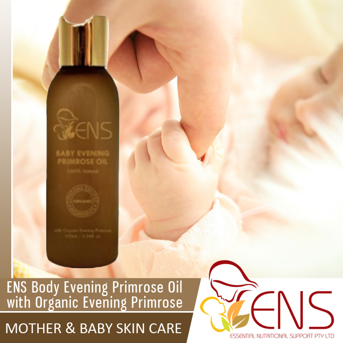 ENS Body Evening Primrose Oil with Organic Evening Primrose  With natural Vitamin E, this product may assist in improving baby's dry skin and is the perfect product for a relaxing massage solution for your baby.  Mother & Baby Skin Care - Our extensive collection of Australian-made skin care for baby is rich in certified organic, natural oils and GMO free pure Vitamin E. The ENS range of products are suitable for both mum and babies of all ages.  #babycare #baby