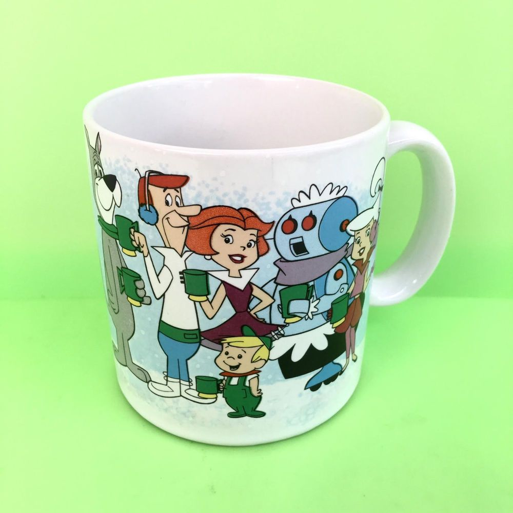 Carnations Hot Cocoa Fred Barney Flintstones Hanna Barbera 1992 Coffee Mug Cup