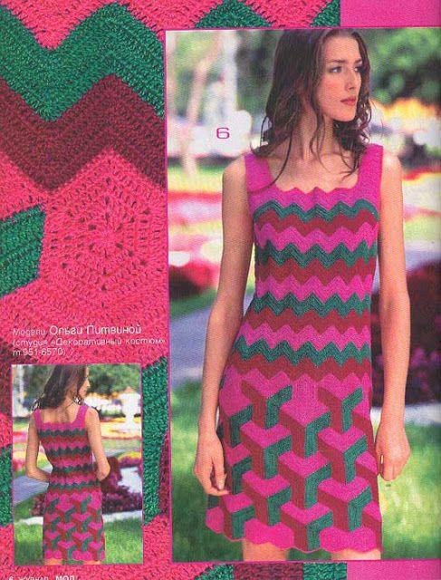 Crochet gold: Beautiful dress zigzag!