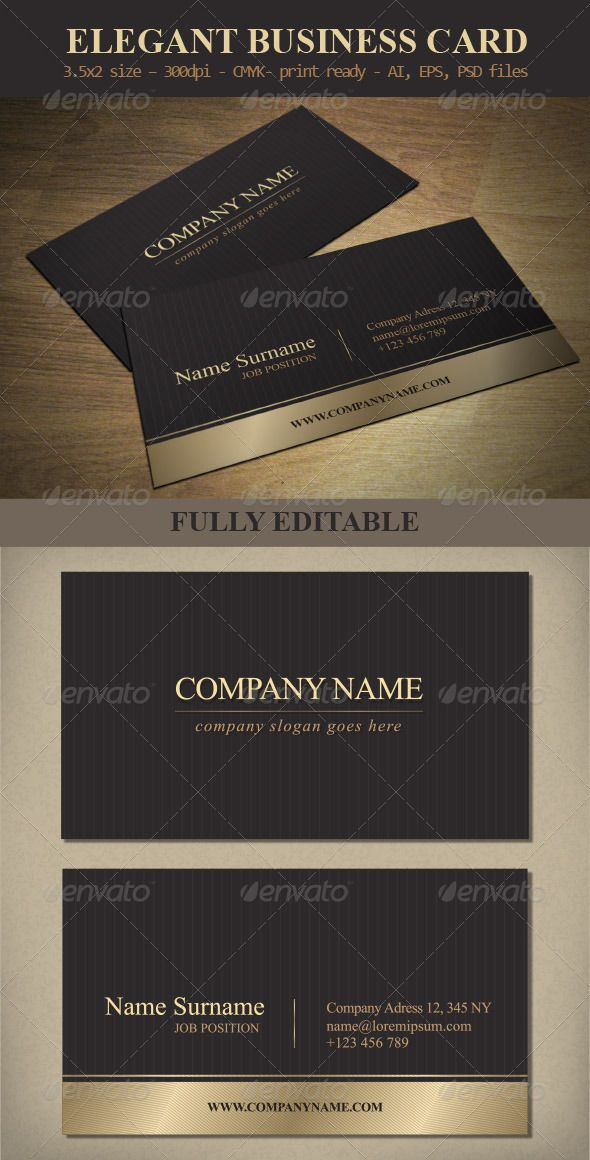 Elegant business card template elegant business cards card elegant business card template graphicriver elegant business card template features and technical specification print size 352 inches bleed area fbccfo Gallery