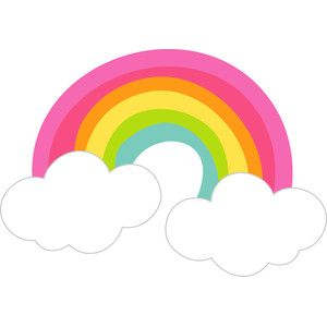 Silhouette Design Store Rainbow With Clouds Fairy Tales Rainbow Clipart Rainbow Theme Rainbow