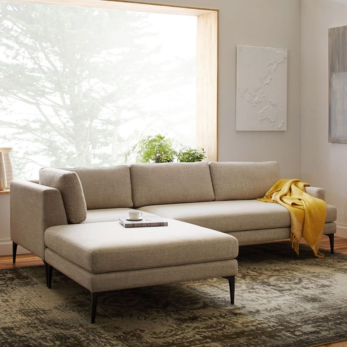 Andes 3 Piece Chaise Sectional