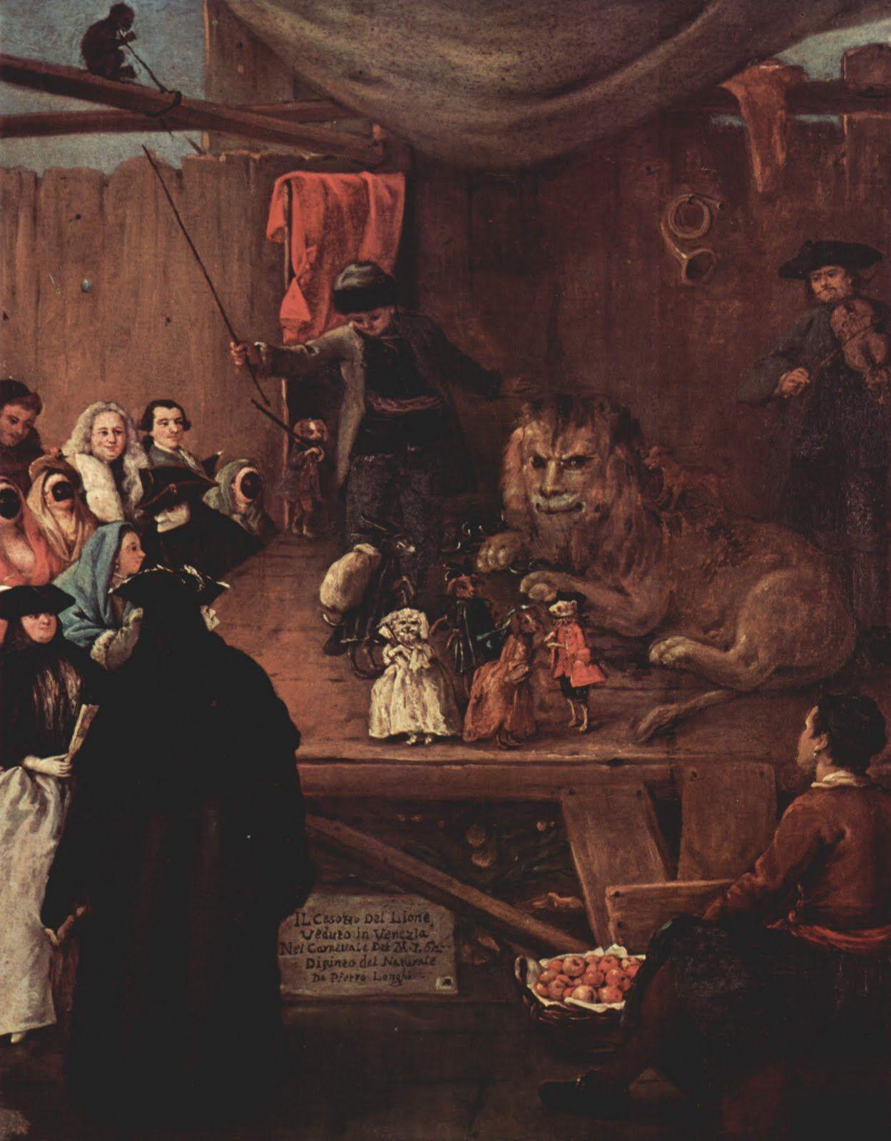 Pietro Longhi, Il casotto del leone (Die Löwenbude), 1762  https://www.artexperiencenyc.com/social_login/?utm_source=pinterest_medium=pins_content=pinterest_pins_campaign=pinterest_initial
