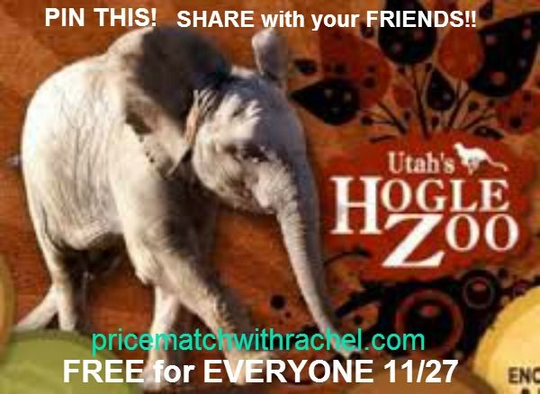 PIN AND SHARE!! http://www.pricematchwithrachel.com/hogle-zoo-wild-wednesday-free-admission-dates-for-2013.html