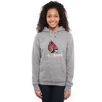 Ball State Cardinals Women's Classic Primary Pullover Hoodie - Ash