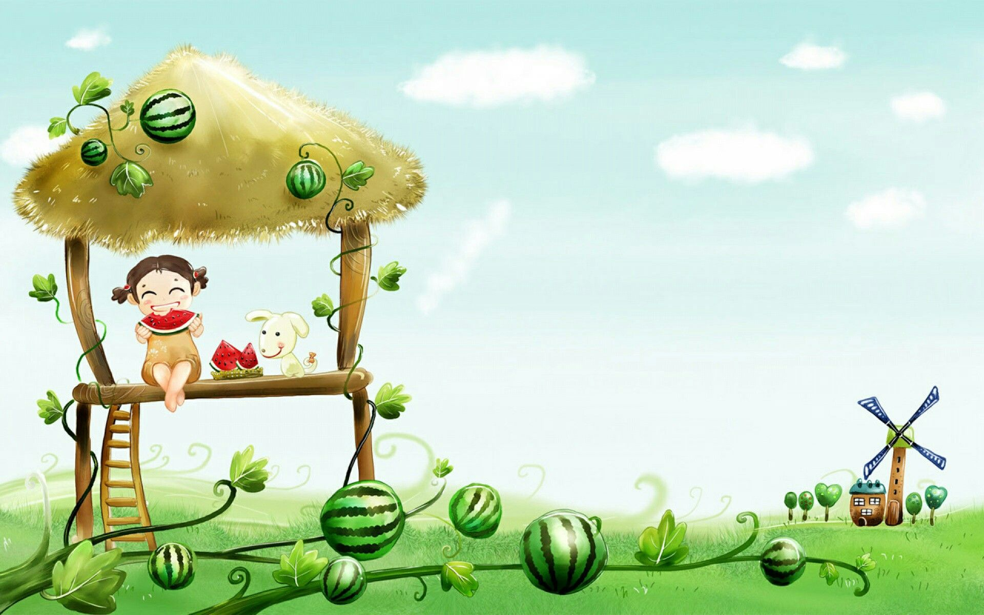 Little Girl Cartoon Wallpaper Hd Cartoon Wallpaper Cute Desktop Wallpaper