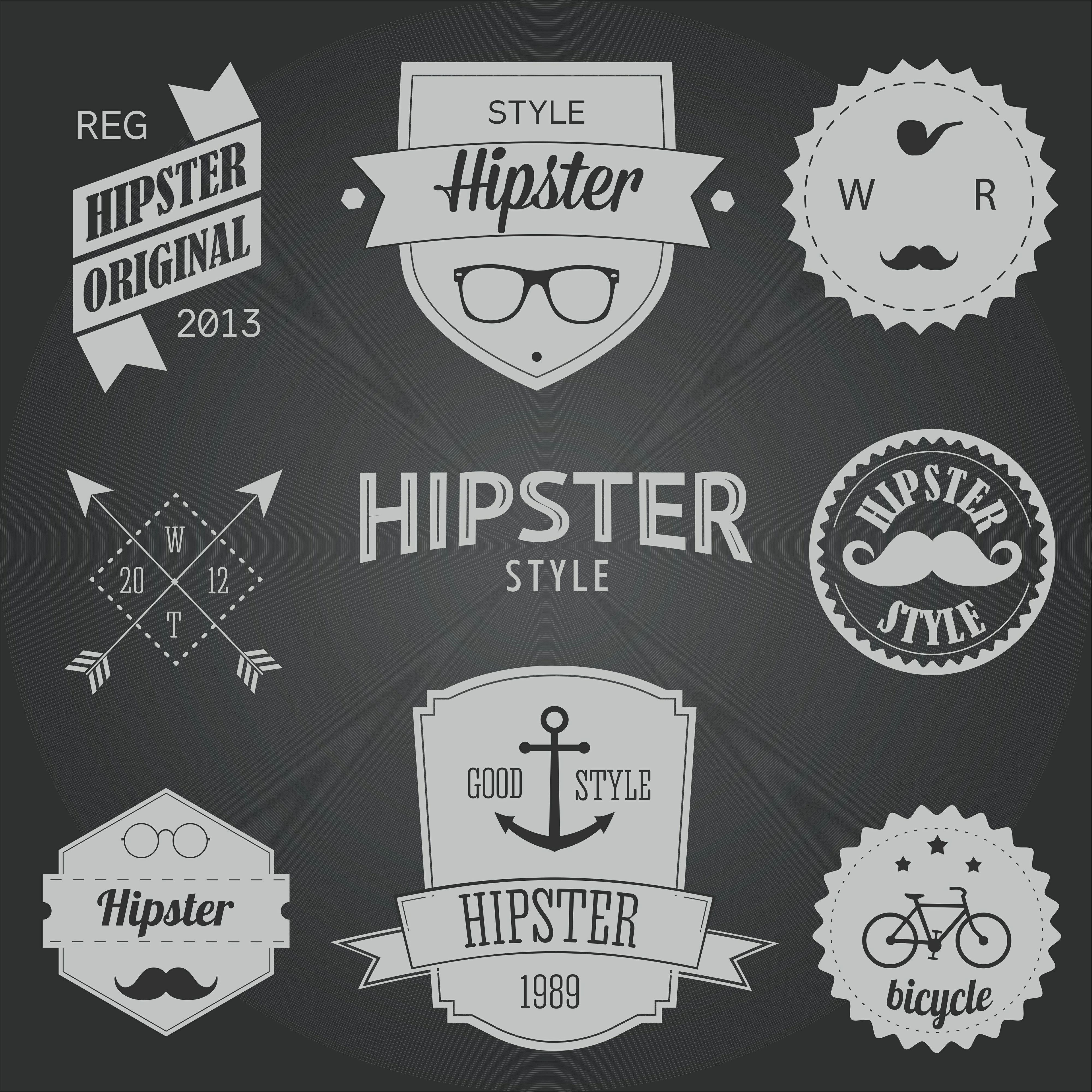 Hipster style badges and labels vector graphics File size