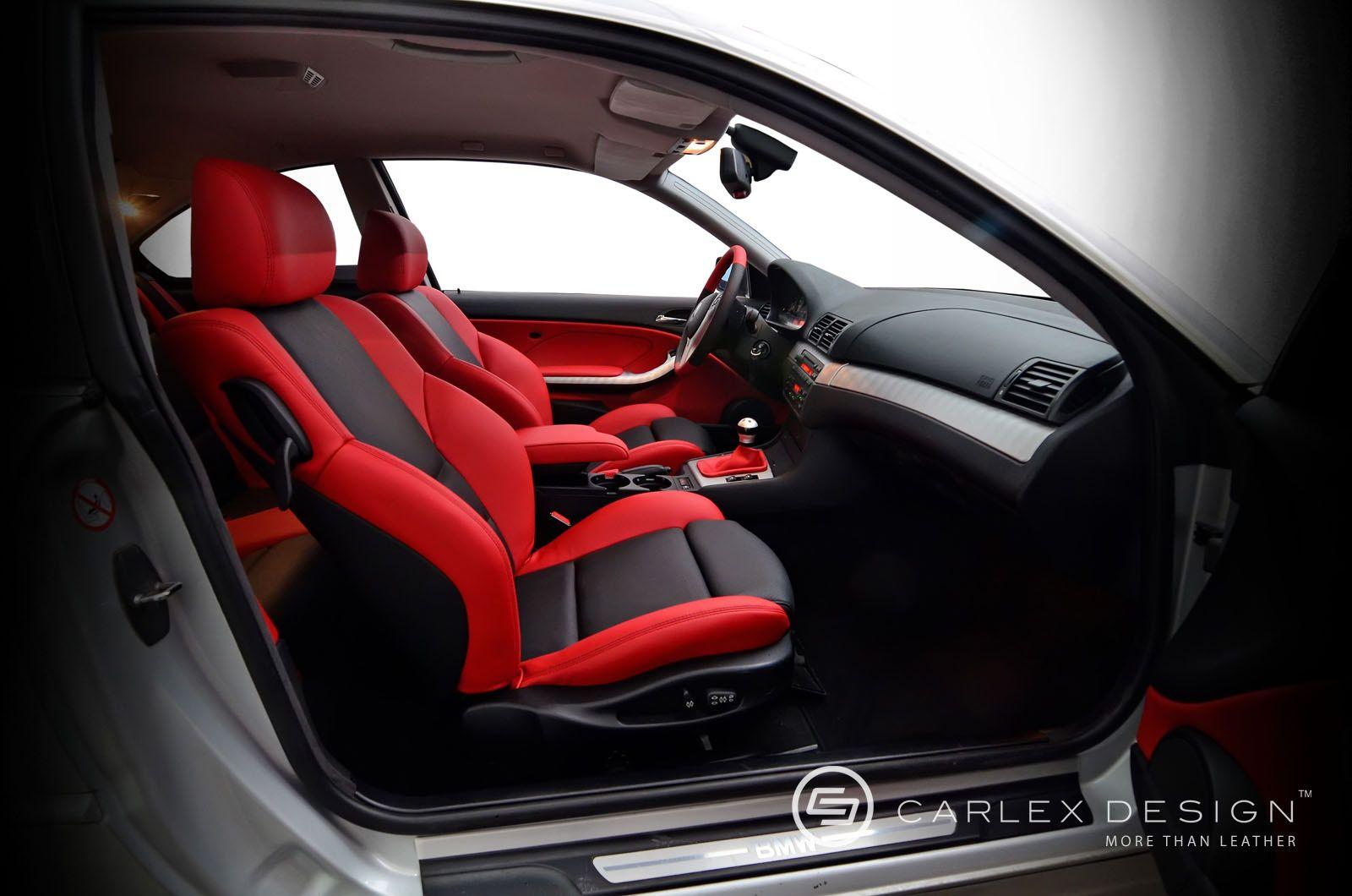 Bmw e46 silver 3 series custom interior red and black and grey awesome carlex design auto for Custom truck interior design