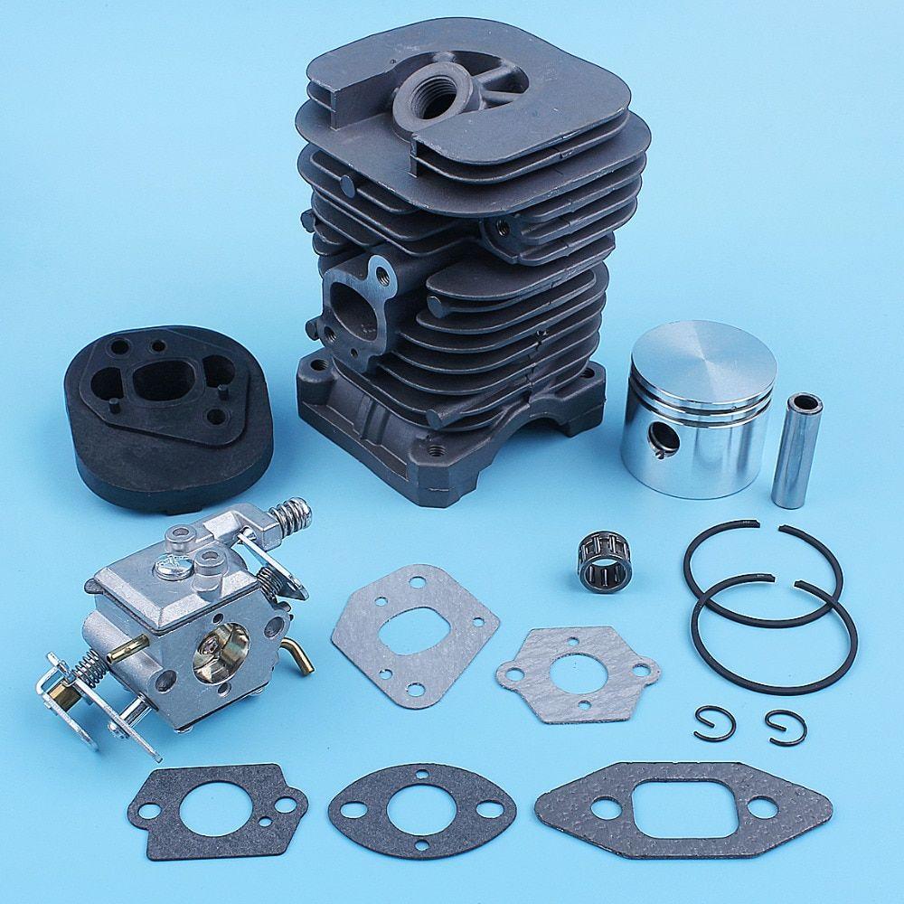 41mm Nikasil Cylinder Piston Carburetor Gasket Kit For Poulan 222